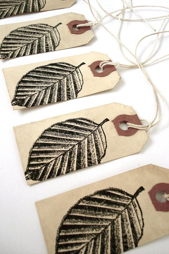 Fall Leaf Gift Tags  Autumn Leaves  Nature door everydaysaholiday, $7.00