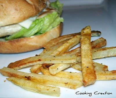 Homemade baked french fries - @Emma Baer could even have these!