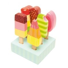 Holz Kinderspielzeug Eis am Stiel Set 7-teilig 11cm