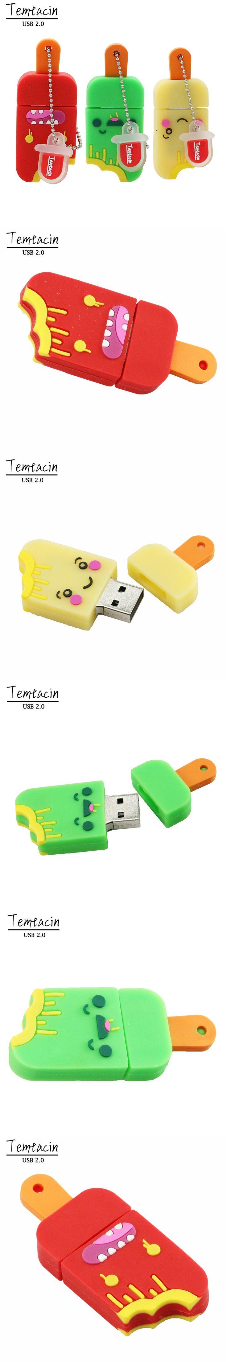 USB Flash Drive Cartoon Ice Cream 4G 8G 16G USB 2 0 Small Popsicle Pen Drive 16G