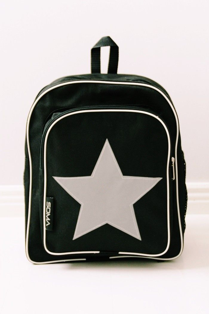 Cool backpack for school with reflecting star!