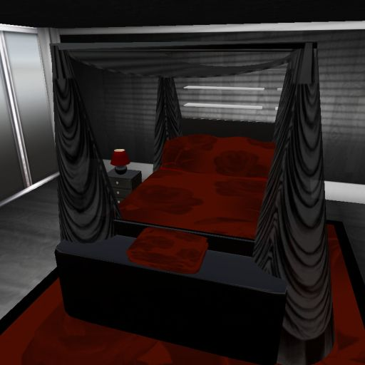 Bedroom Furniture Black U0026 Dark Red