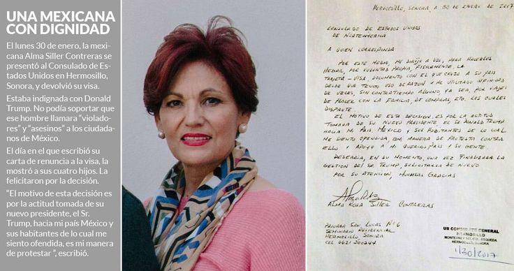 Cuando Alma Rosa Siller Contreras llegó a la primera ventanilla del Consulado de Estados Unidos en Hermosillo, Sonora, con el sobre manila en la mano, la decisión de regresar su visa no tenía retorno. Desde un día antes había recibido ese sobre sellado, con una carta, la visa láser, una copia de ést
