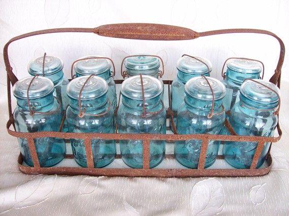 vintage mason jar set