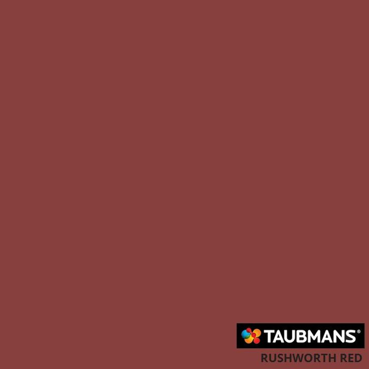 #Taubmanscolour #rushworthred