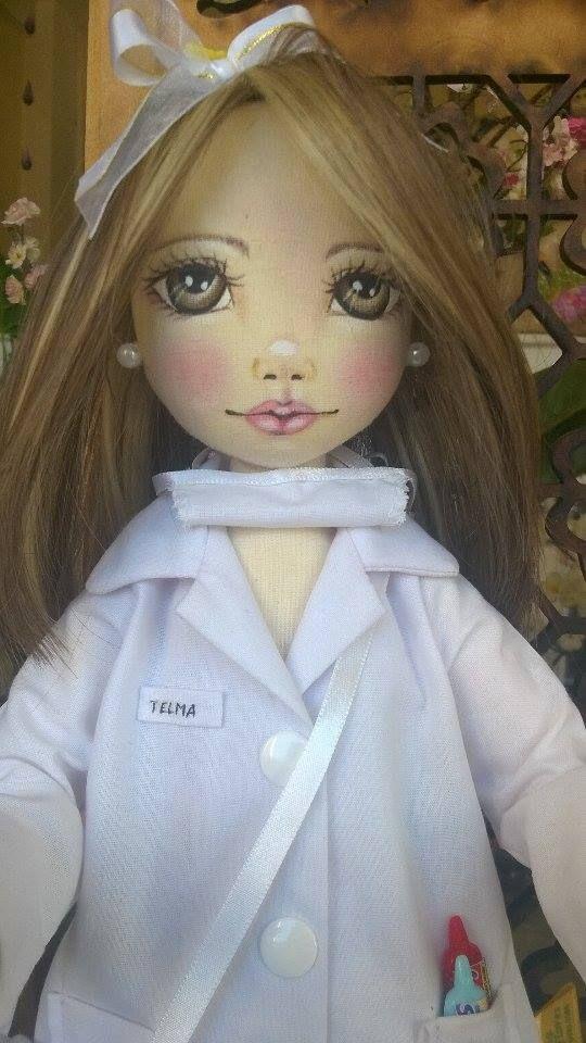 Bonecas de pano. Dentista. Soraia Flores.