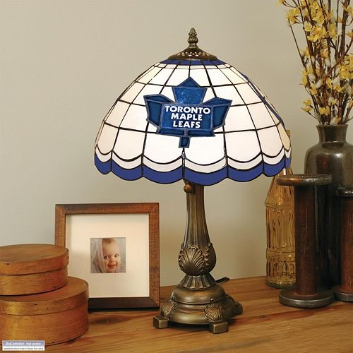 Toronto Maple Leafs Tiffany Table Lamp $145.99 love it! i want one