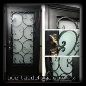 Puerta Principal De Forja Contemporanea - $ 8,700.00