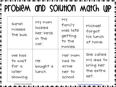 Fourth and Ten: Problem and Solution Freebie and a new blogger on the blog block