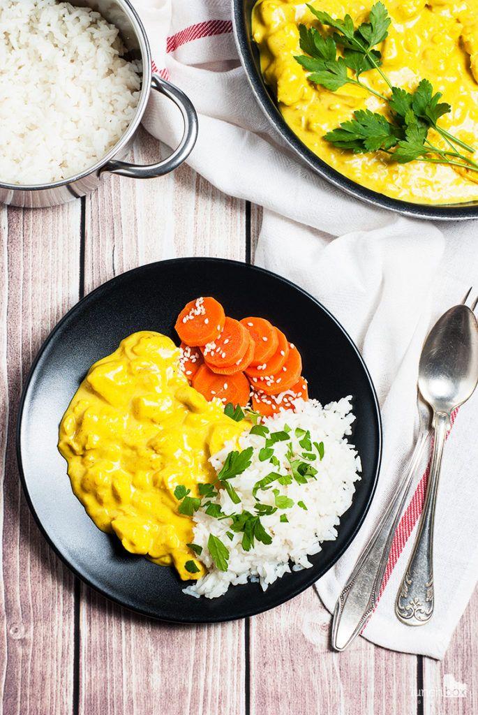 Kurczak curry z ryżem i marchewką gotowaną   lunchboxodkuchni.pl