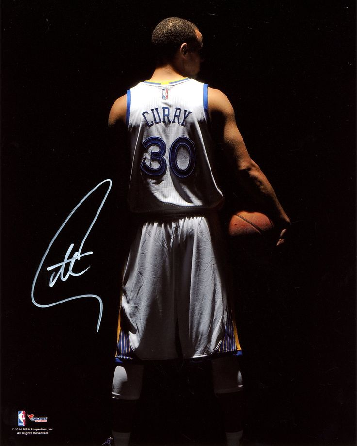 """Stephen Curry Golden State Warriors Autographed 8"""" x 10"""" Dark Turned Around Photograph"""