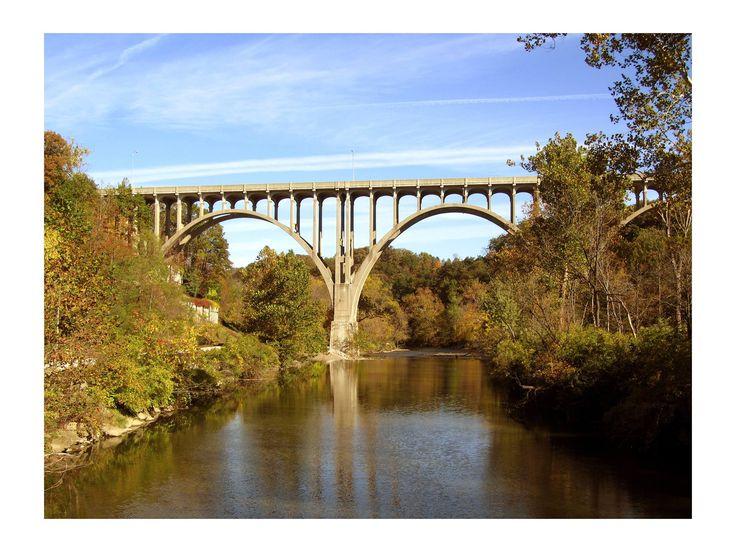 Cuyahoga River Rt. 82 bridge Brecksville, Ohio.