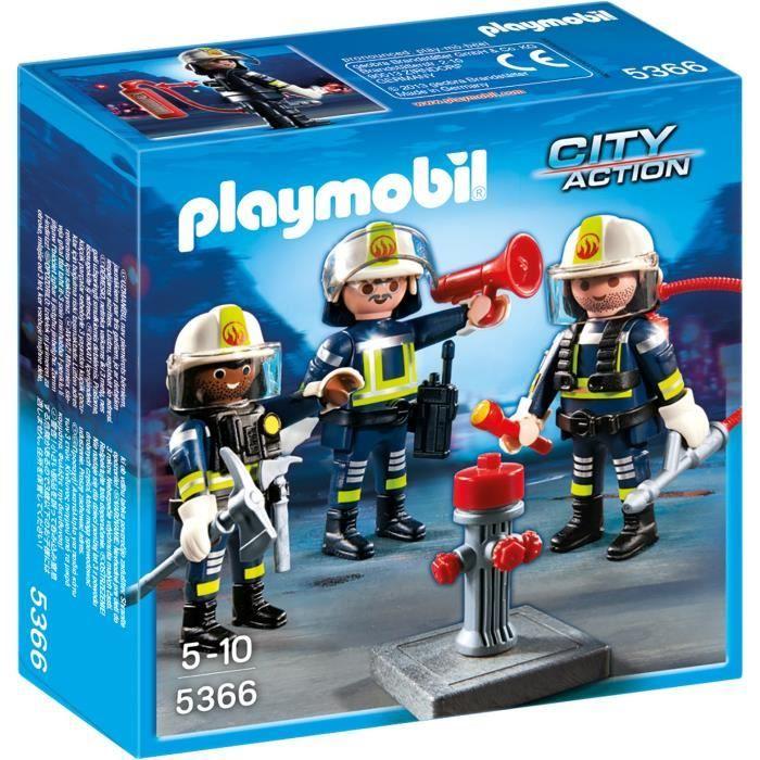 bonplan jouets cdiscount playmobil unit de pompiers contient 3