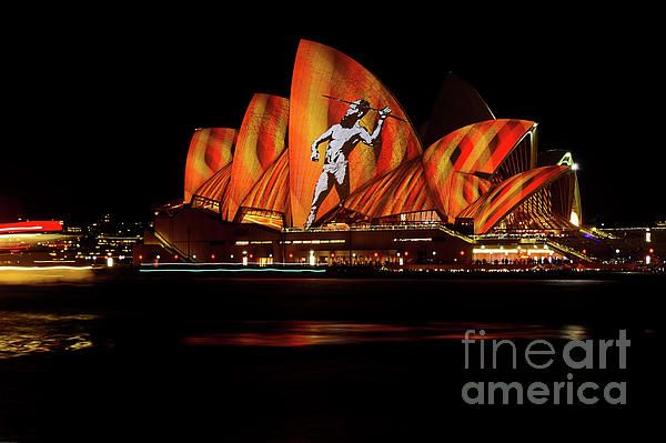 #OPERA #HOUSE #ABORIGINAL #VIVID_SYDNEY 2016 by #Kaye #Menner #Photography Quality Prints Cards Products at: http://kaye-menner.pixels.com/featured/opera-house-aboriginal-vivid-sydney-2016-by-kaye-menner-kaye-menner.html