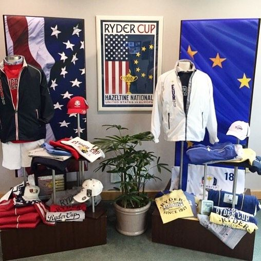 Our #RyderCup display back at the HQ in New Bedford