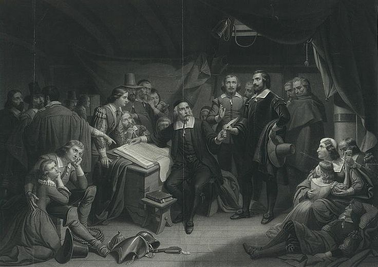 plymouth colony s mayflower compact The mayflower compact was the first governing document of plymouth colony it was written by the separatists, also known as the saints, fleeing religious persecution from james vi and i.