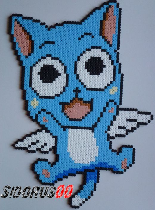 Happy - Fairy Tail hama beads by Sidorus00 (H= 39 cm L= 27 cm)