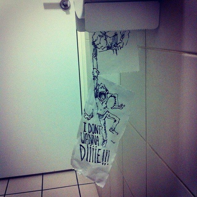 The Interactive Toilet Paper  18 Creative & Arty Cartoon Bomb Drawings That Will Leave You Amazed • BoredBug