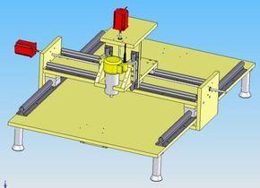Construction d'une table de fraisage à commande numérique (diy CNC router)
