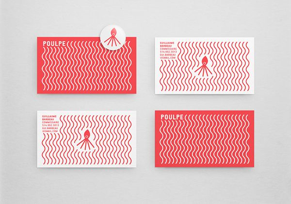 Unique Business Card, Poulpe via @ilovem83 #Business #Cards #Design