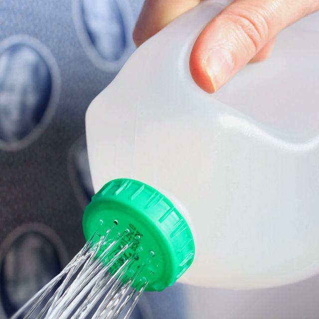Reuse milk/juice bottles as watering cans. Fun for kids!