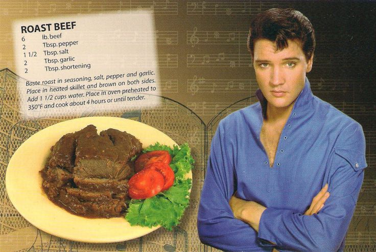 my daughter brought this card back to me from Graceland....it is a GOOD recipe!