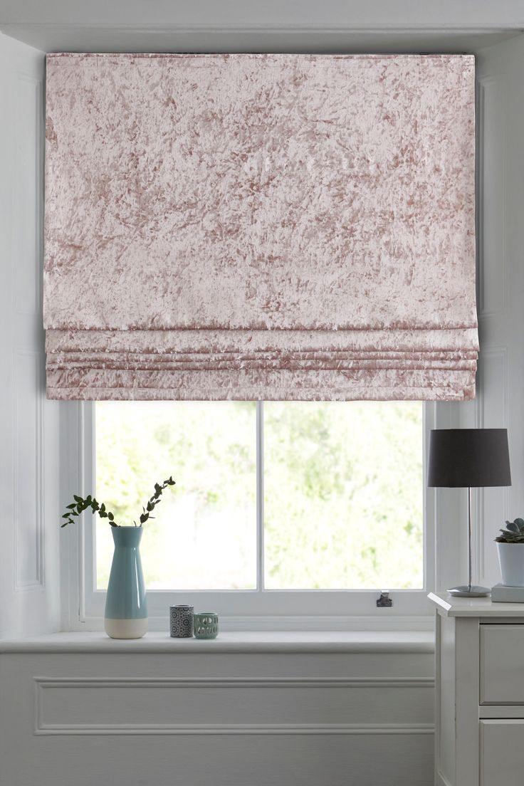 Next Crushed Velvet Blind Pink In 2020 Blinds Velvet