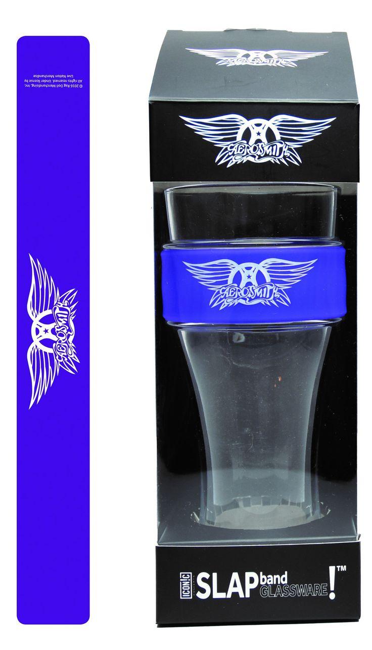 Aerosmith Slap Band Glassware - Single Pack with Slap Band Aerosmith Logo - Purple Band w/White Logo