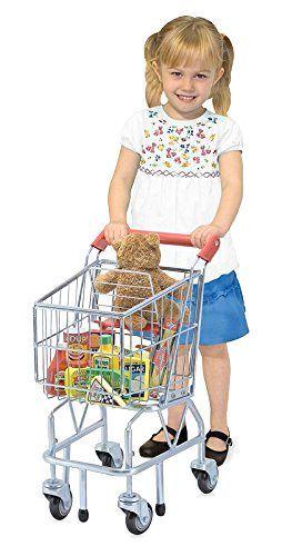 Kids Toy Shopping Cart Melissa Doug Metal Pretend Gift Push Grocery Gift Play #MelissaDoug