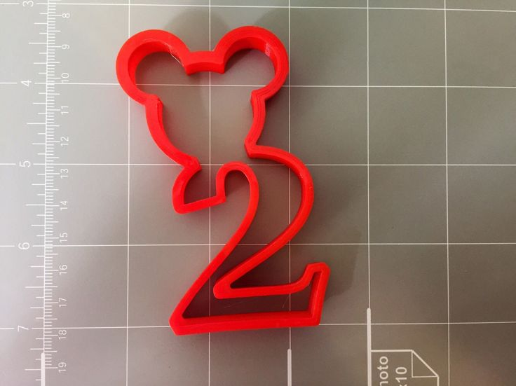 Mickey Mouse Inspired Number two-2nd Year Birthday Cookie Cutter