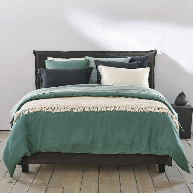 helm duvet cover in faded hemp fabric la redoute bedroom. Black Bedroom Furniture Sets. Home Design Ideas