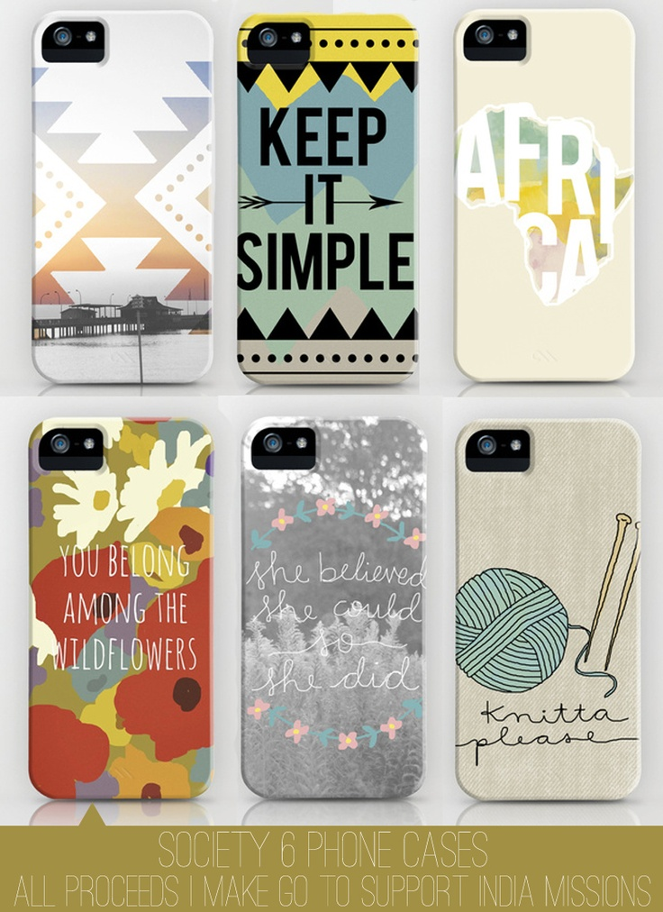 iPhone Cases made by @Courtney Kennedy // All proceeds go to India missions.