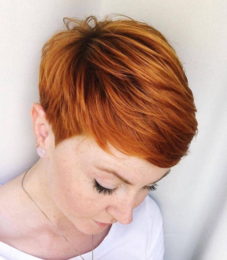 # Frisur # Schönheit #Frauenfrisuren #Kurzes Haar #Fuchs