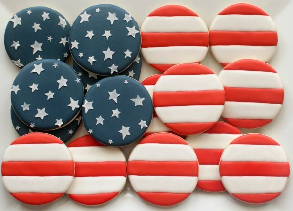 US Flag Cookie Platter