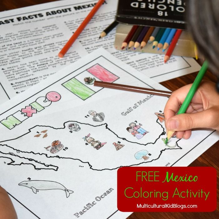 Free Mexico Coloring Activity exclusively on Multicultural Kid Blogs