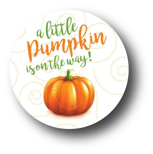30 A little pumpkin is on the way! - Baby Shower Stickers #AListInvites