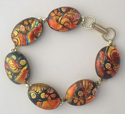 Dichroic Fused Glass Bracelet Handmade Jewelry by Firefly Glass Art | eBay