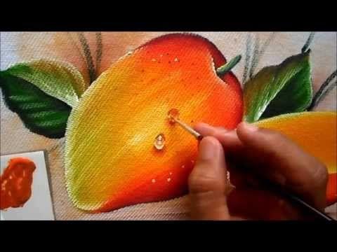 Pintura em tecido Eliane Nascimento: Como eu pinto maçãs - Parte 3 (gota) - YouTube