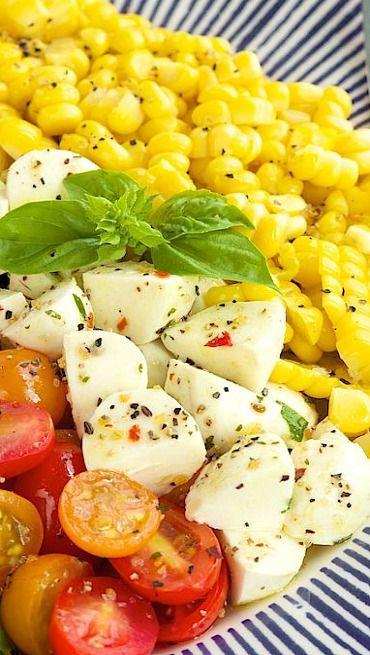 Caprese Salad with Fresh Corn Recipe