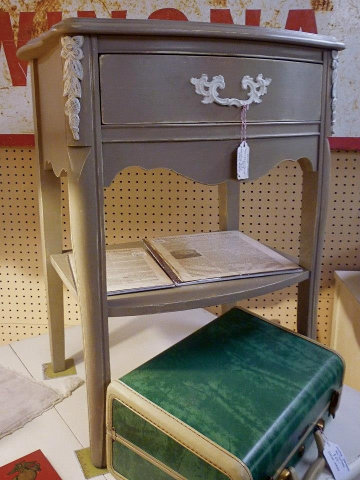 Gorgeous French Provincial Nightstand Painted in