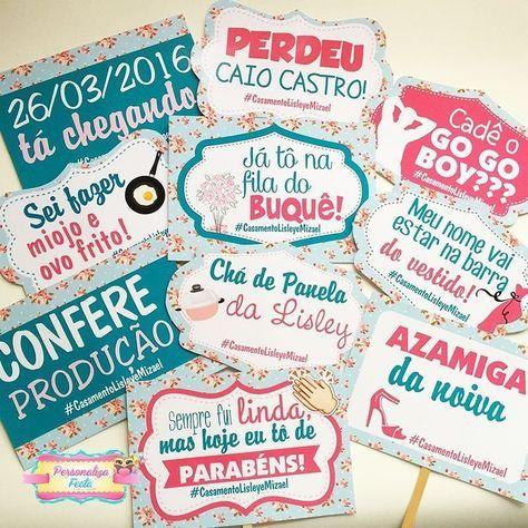 Tem coisa mais fofinha e criativa do que uma papelaria personalizada? A gente AMA a @personalizafesta e esse trabalho com plaquinhas tags convites e muitas outras lindezas pro seu chá casamento e noivado! Pede logo o seu.  Orçamento  Whats: (47) 9669-1345 e-mail: contato@personalizafesta.com.br ou no instagram @personalizafesta Eles entregam em todo Brasil!