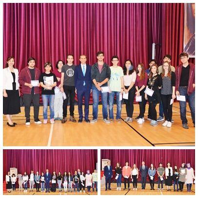 Özel Mürüvvet Evyap Koleji ve Fen Lisesinde 2016-2017 eğitim öğretim yılının son karneleri verildi.