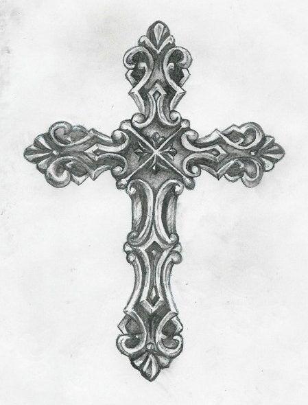 Cross tattoos for men on back