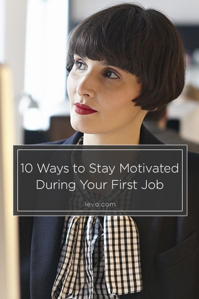A few tips for staying motivated! (Hint: build relationships) www.levo.com