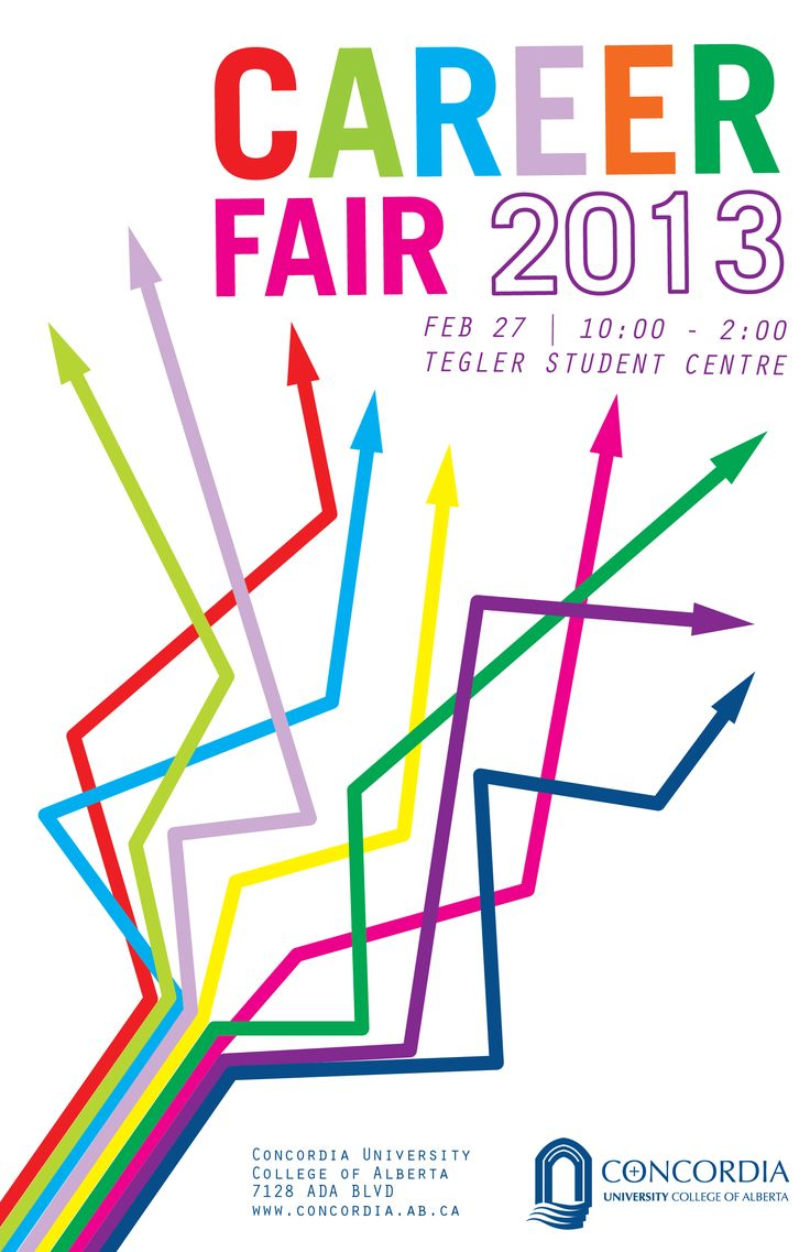Banner design for job fair - Minimalist Career Fair Poster See More Interesting Not Wild About All The Crazy Colors But It Does Imply Different Career