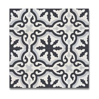 Argana Black and Grey Handmade Moroccan 8 x 8 inch Cement and Granite Floor or Wall Tile (Case of 12) | Overstock.com Shopping - The Best Deals on Wall Tiles