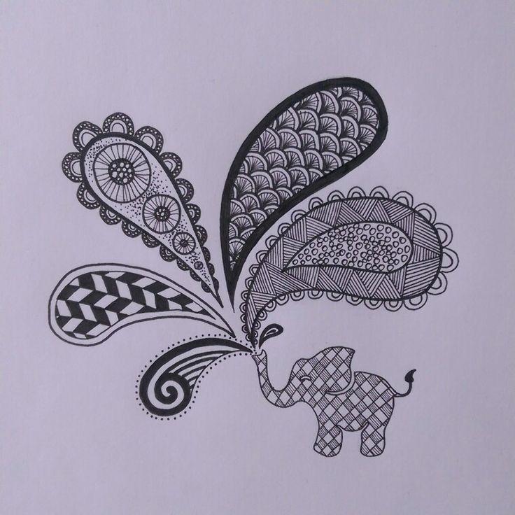 Zendoodle elephant