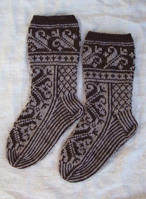 Ravelry: TiiaN's Miesten kirjoneulesukat-free pattern