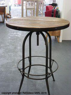 Table de bar Parnasse, déco atelier, Hanjel