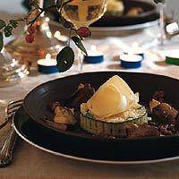 Recept - Risottotaartje met kaaskrullen en oesterzwammen - Allerhande